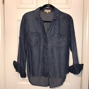 Chambray button down from Anthropologie. Sz XS